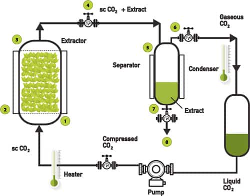 Diagram of Supercritical Co2 Extraction Process