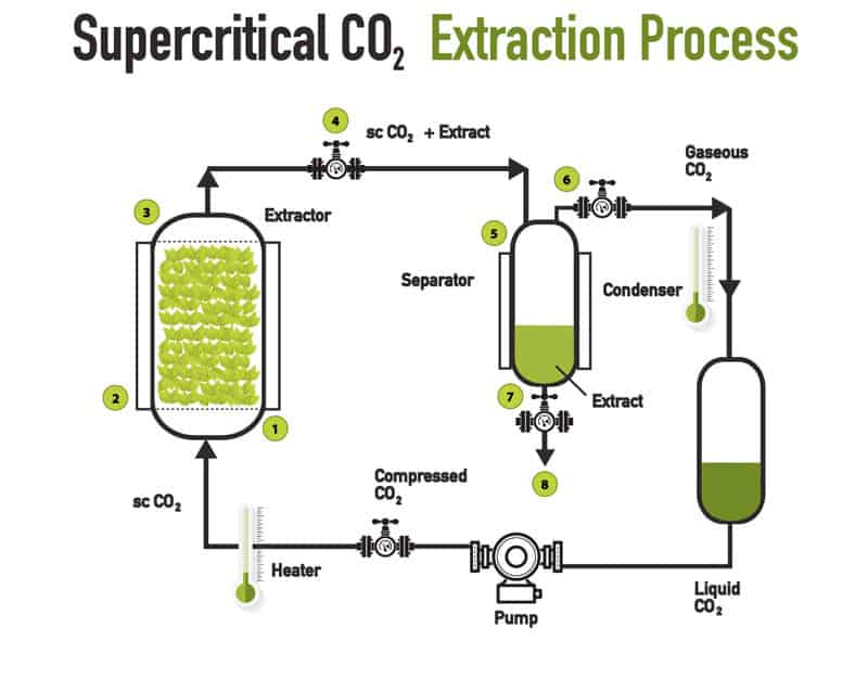 infographics of supercritical co2 processes