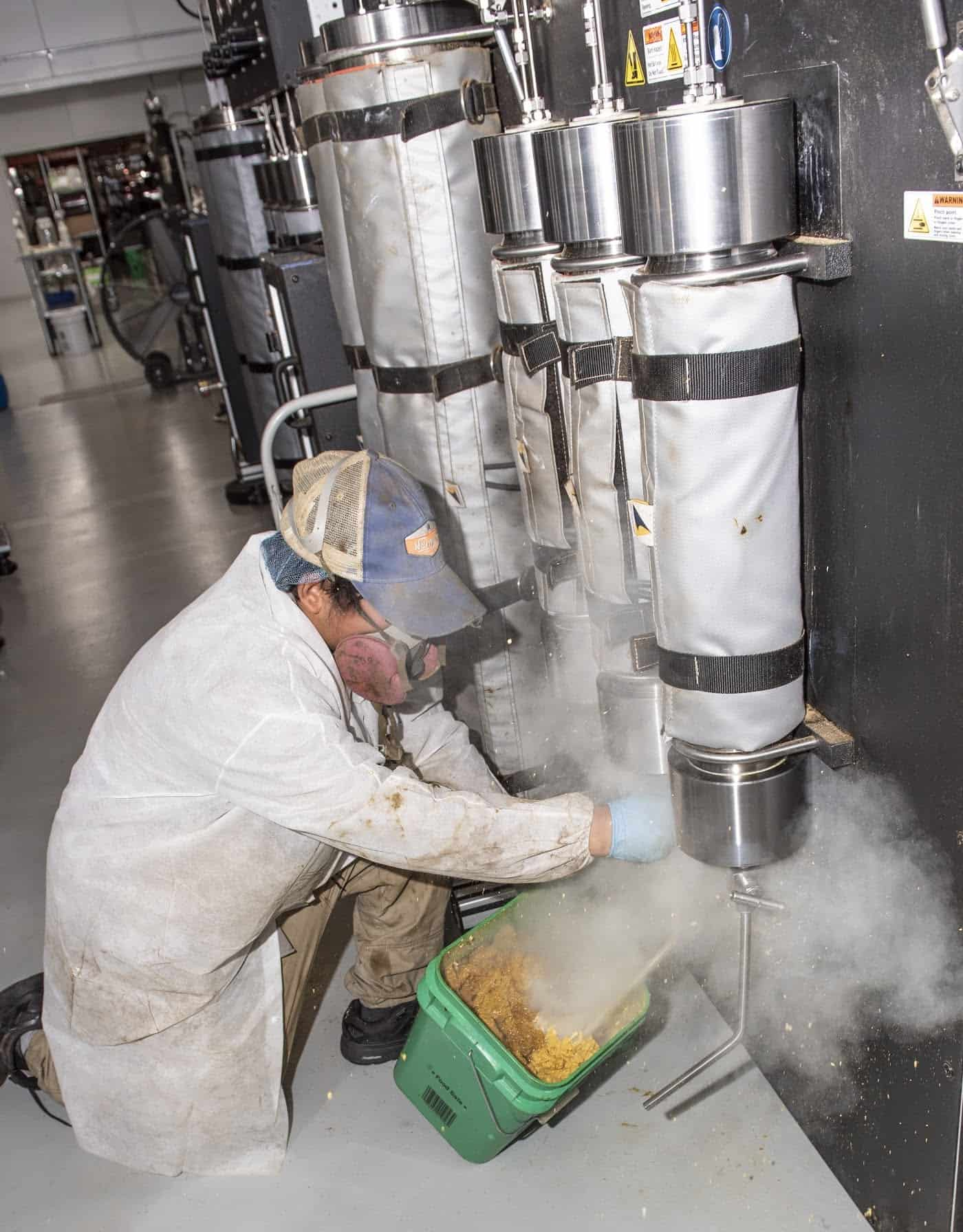 supercritical CO2 extractor being used