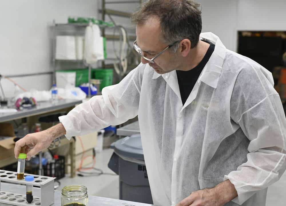 scientist doing testing on solutions